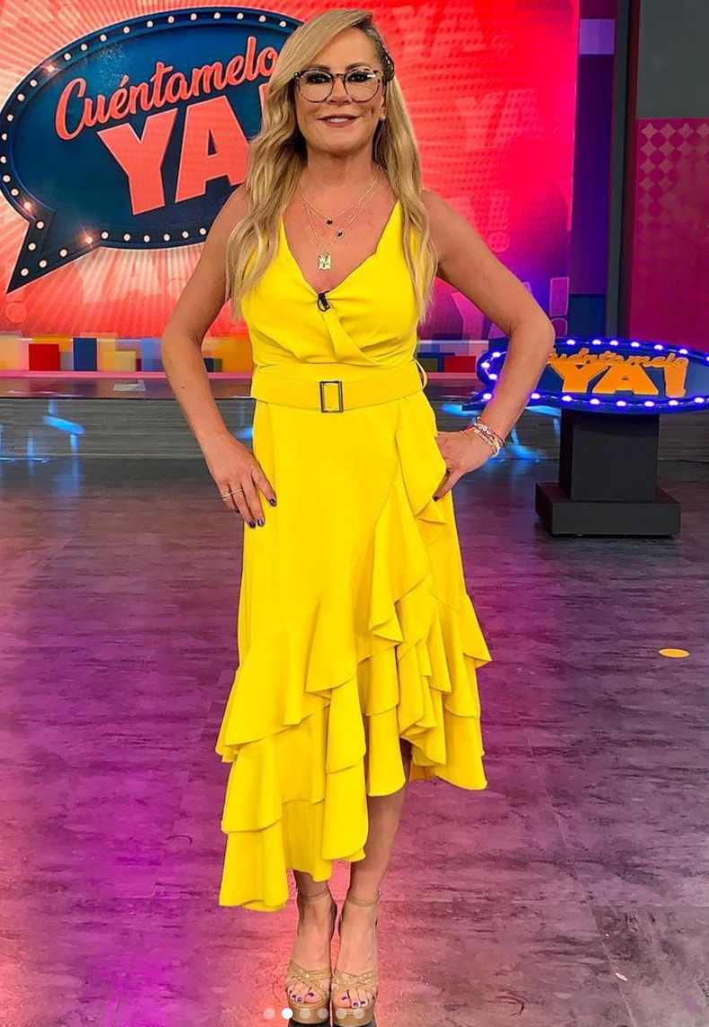Roxana Castellanos, look del dia, vestido amarillo
