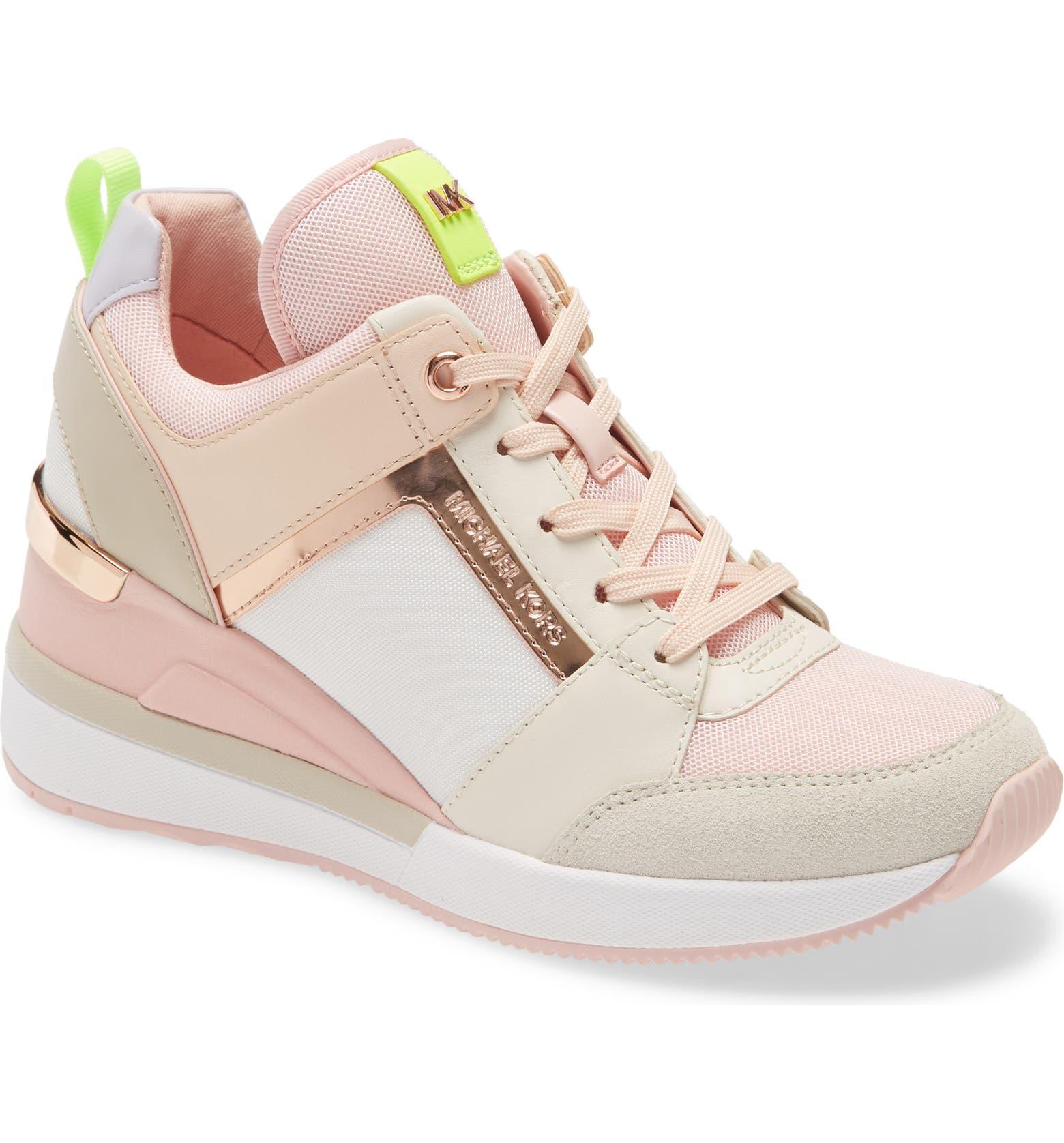tenis zapato plataforma Michael Kors rosa