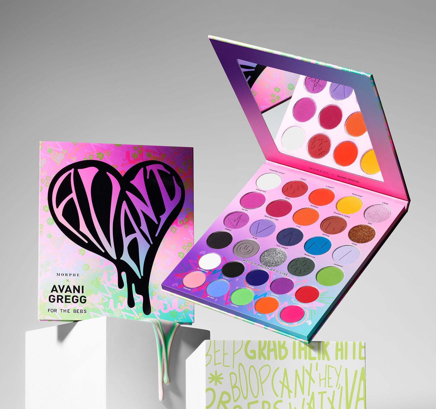 Paleta de sombras, ojos, maquillaje, Morphe, Avani Gregg