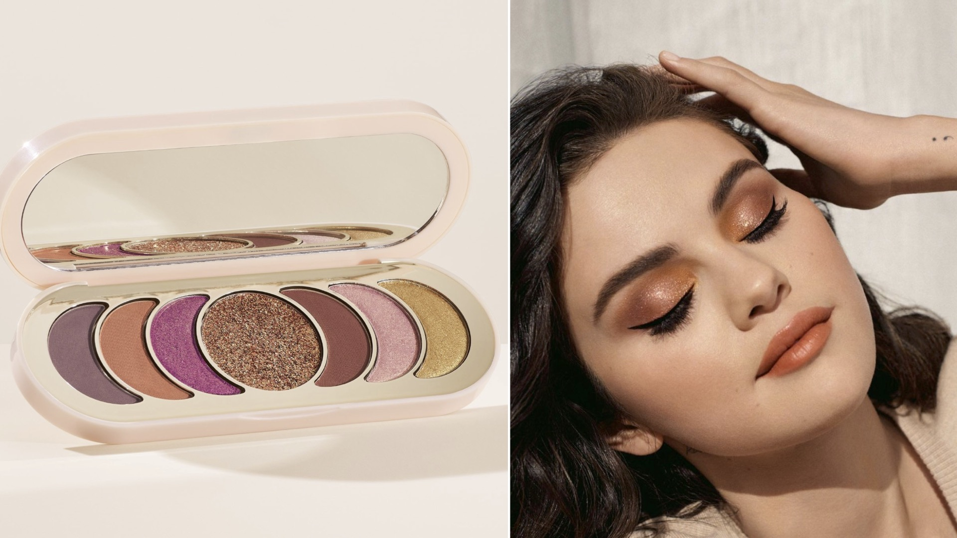 Selena Gomez, Rare Beauty, paleta de sombras, maquillaje