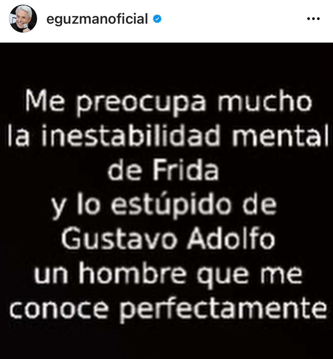Enrique Guzman contra Frida Sofía