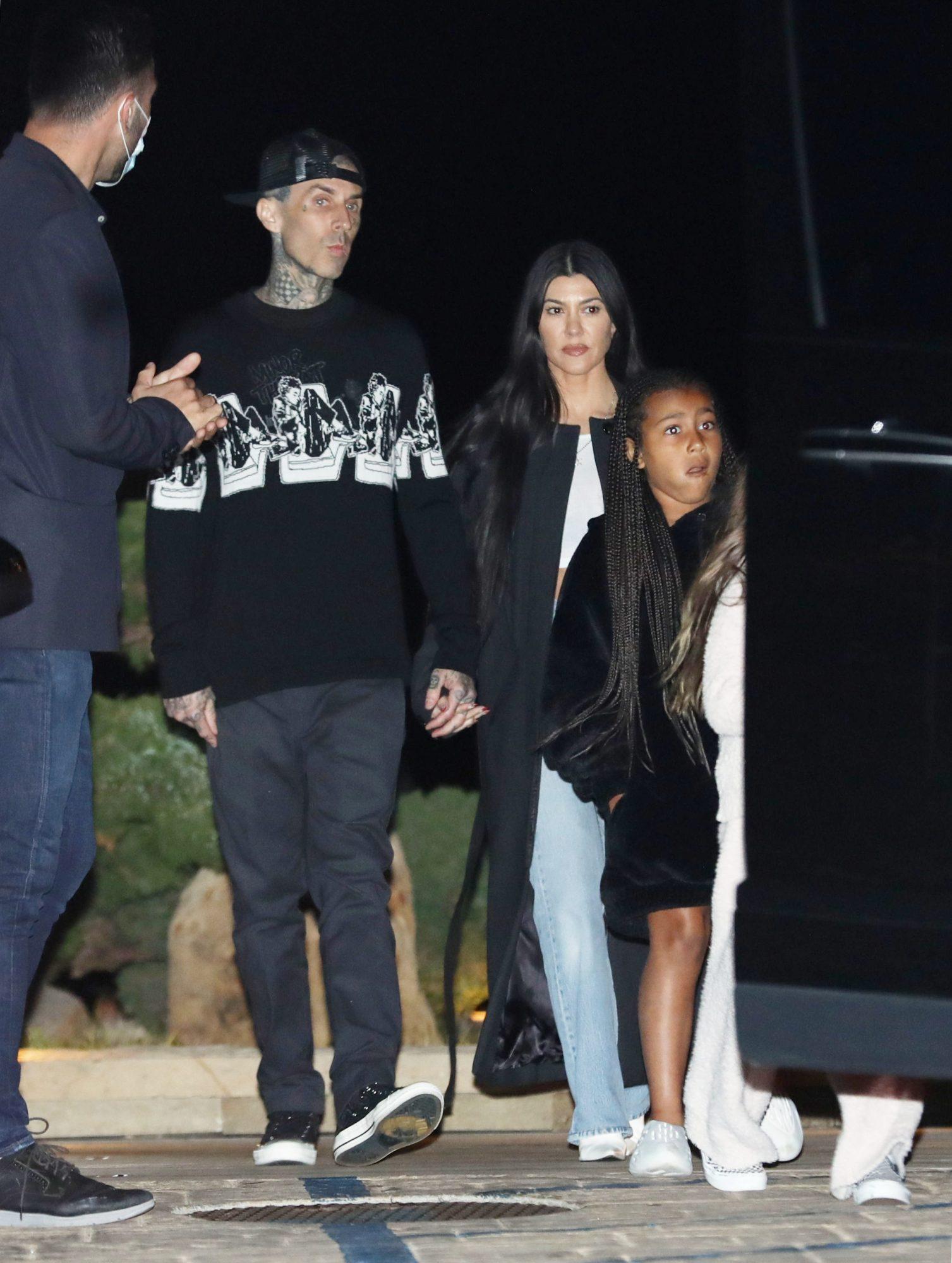 Kourtney Kardashian, Travis Barker, Penelope and North