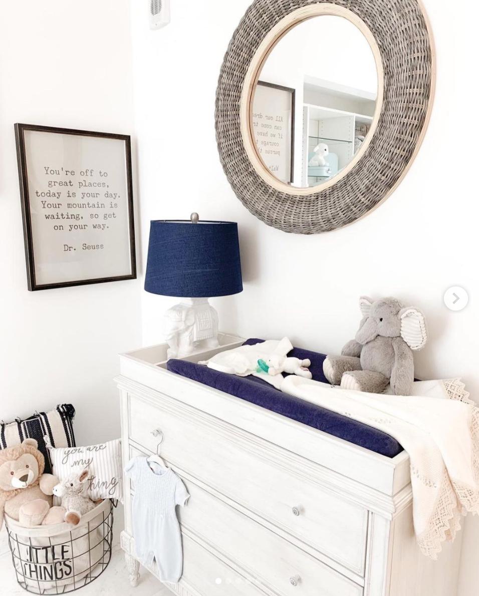 Francisca Lachapel muestra el cuarto de su bebé