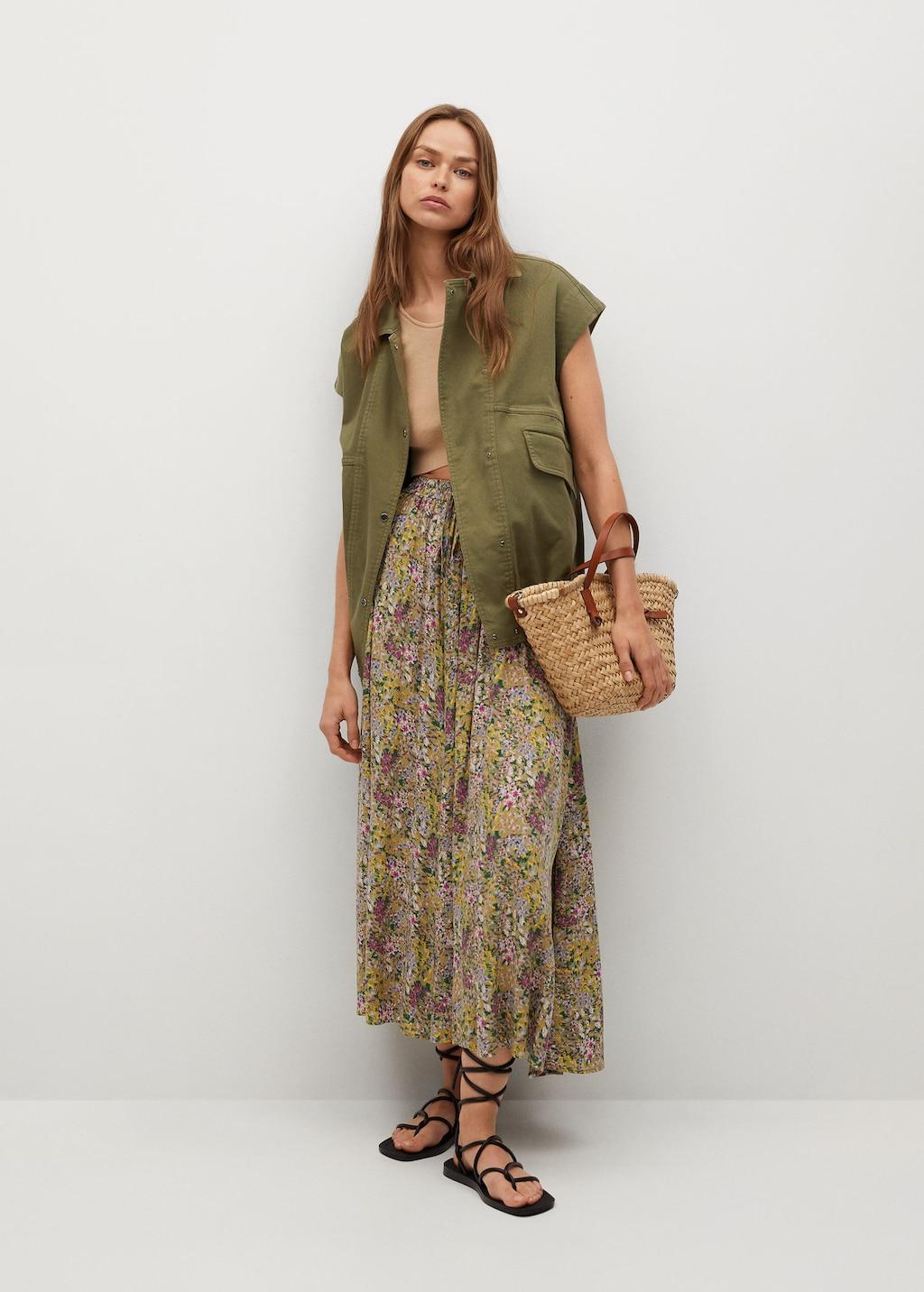 falda, saya, moda, Mango