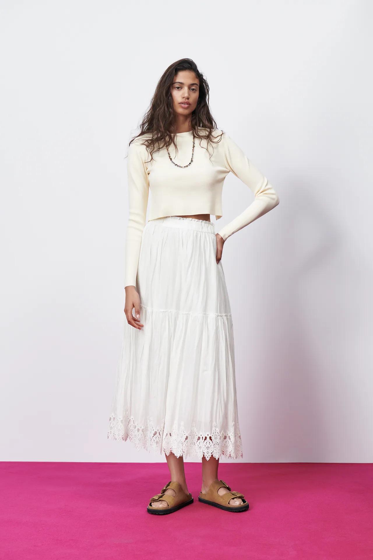 falda, saya, moda, Zara