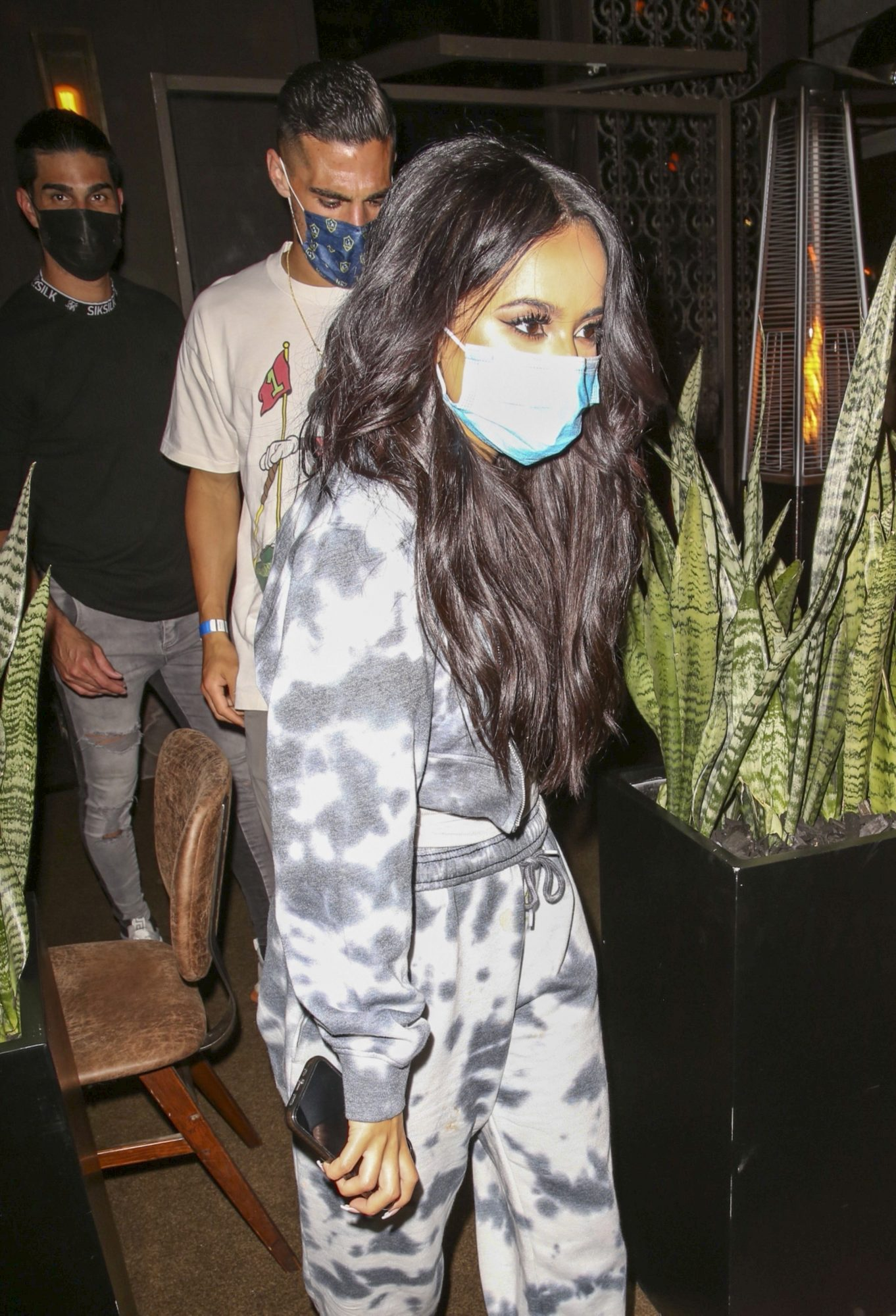 Becky G and Sebastian Lletget is seen leaving dinner in West Hollywood