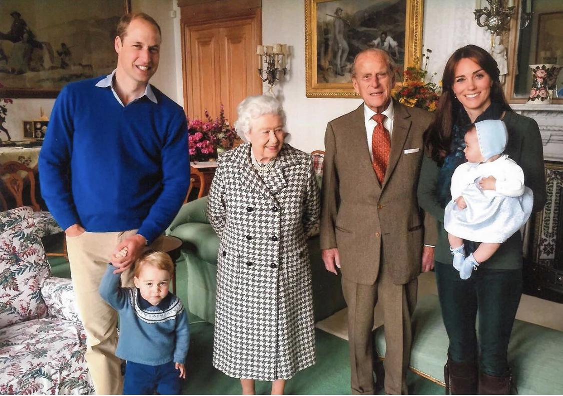 reina isabel príncipe Felipe william kate bisnietos