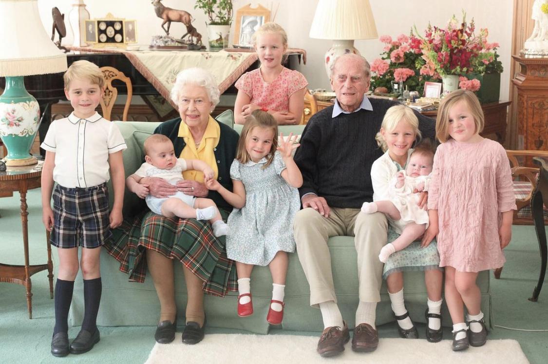reina isabel príncipe Felipe bisnietos