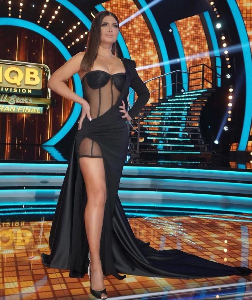 Chiquinquira Delgado, look del dia, Mira quien baila, vestido negro