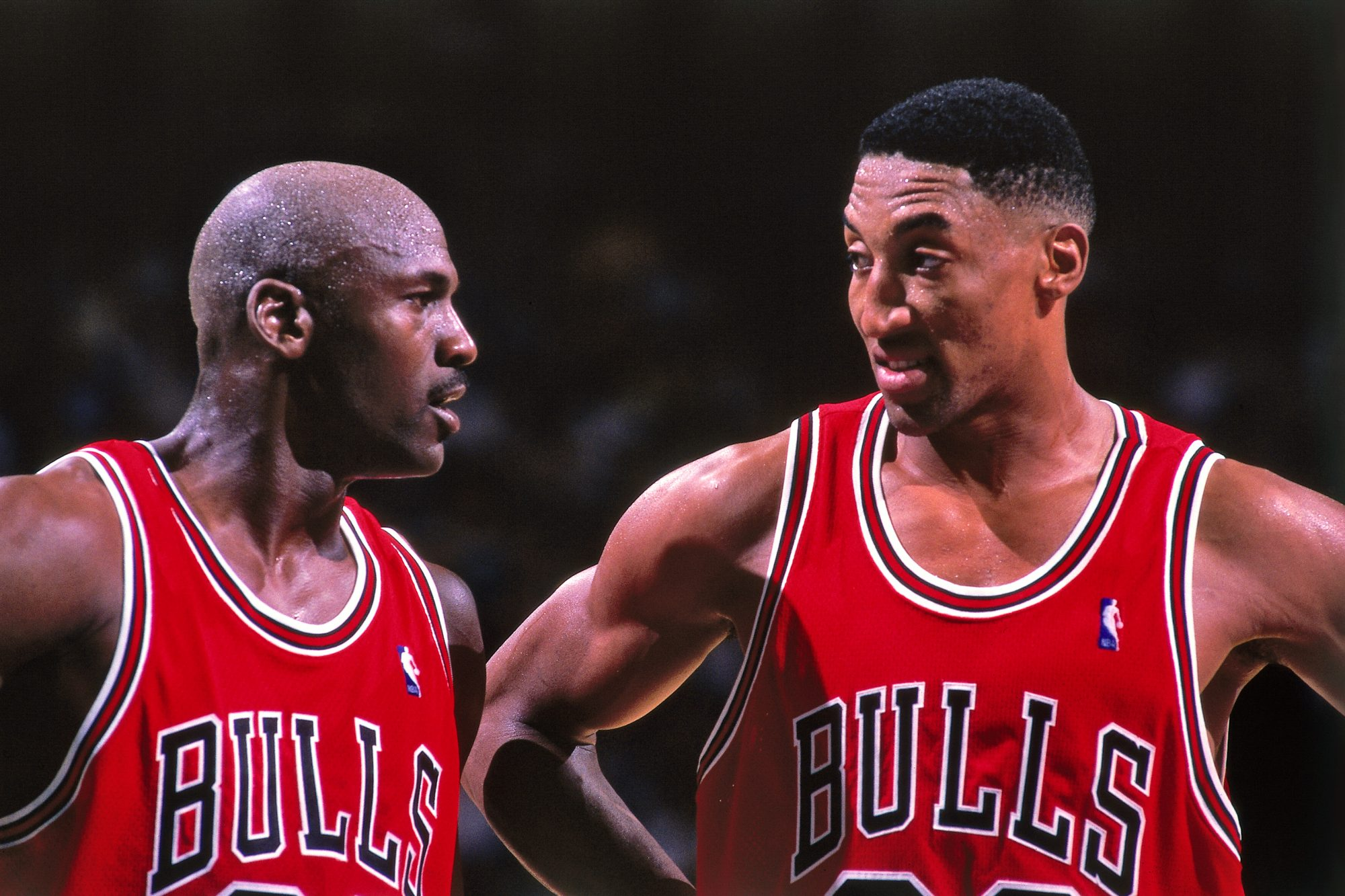 Michael Jordan y Scottie Pippens