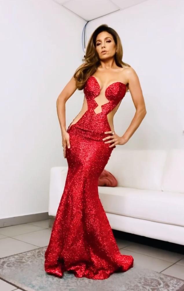 Patricia Manterola, vestido rojo, Mira quien baila, gran final mira quien baila