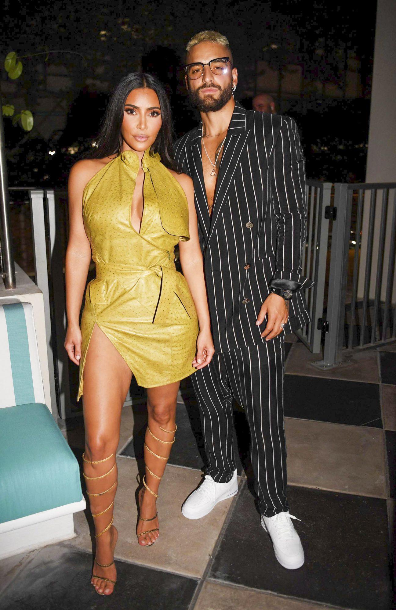 Kim Kardashian, Maluma apertura hotel the goodtime