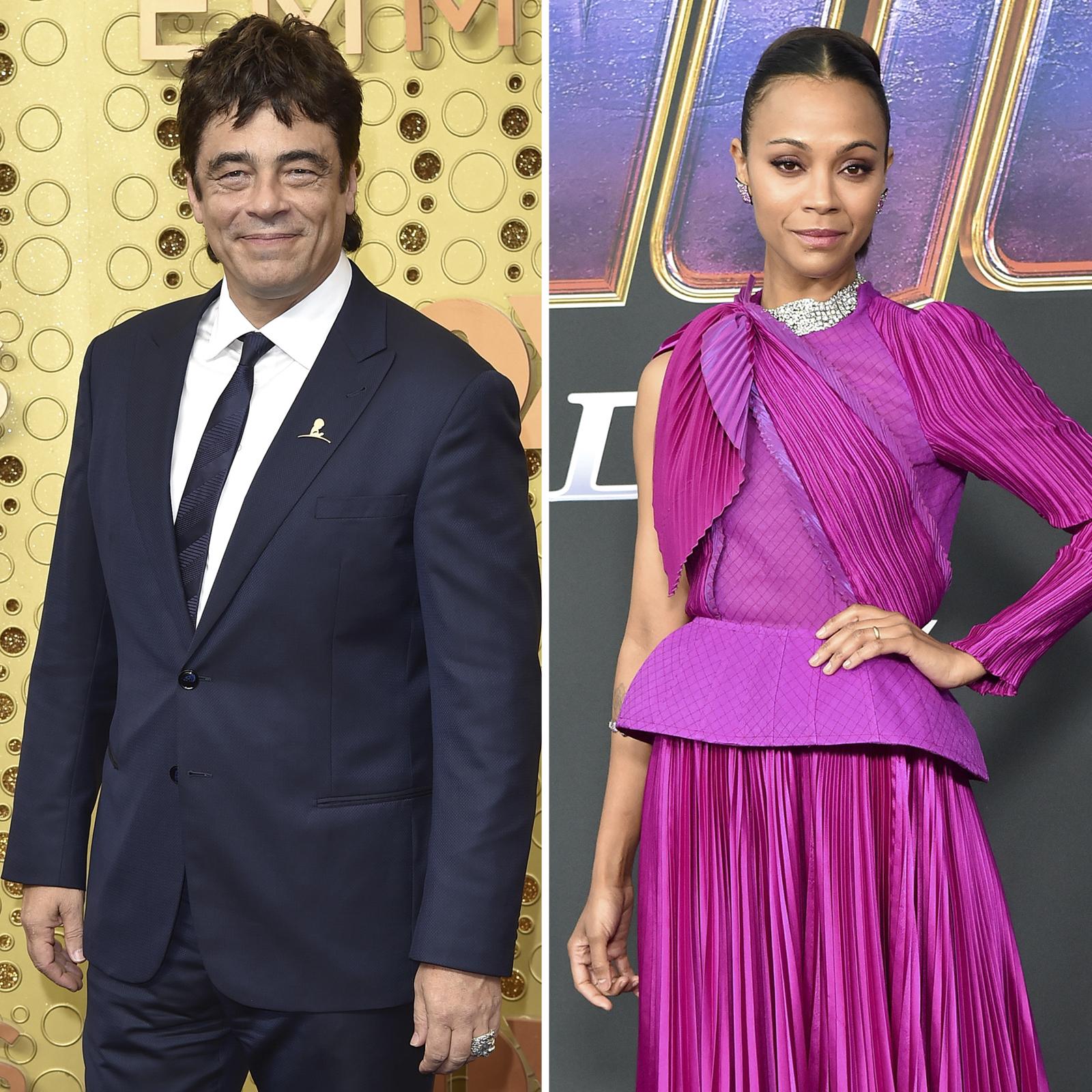 Benicio del Toro y Zoe Saldana
