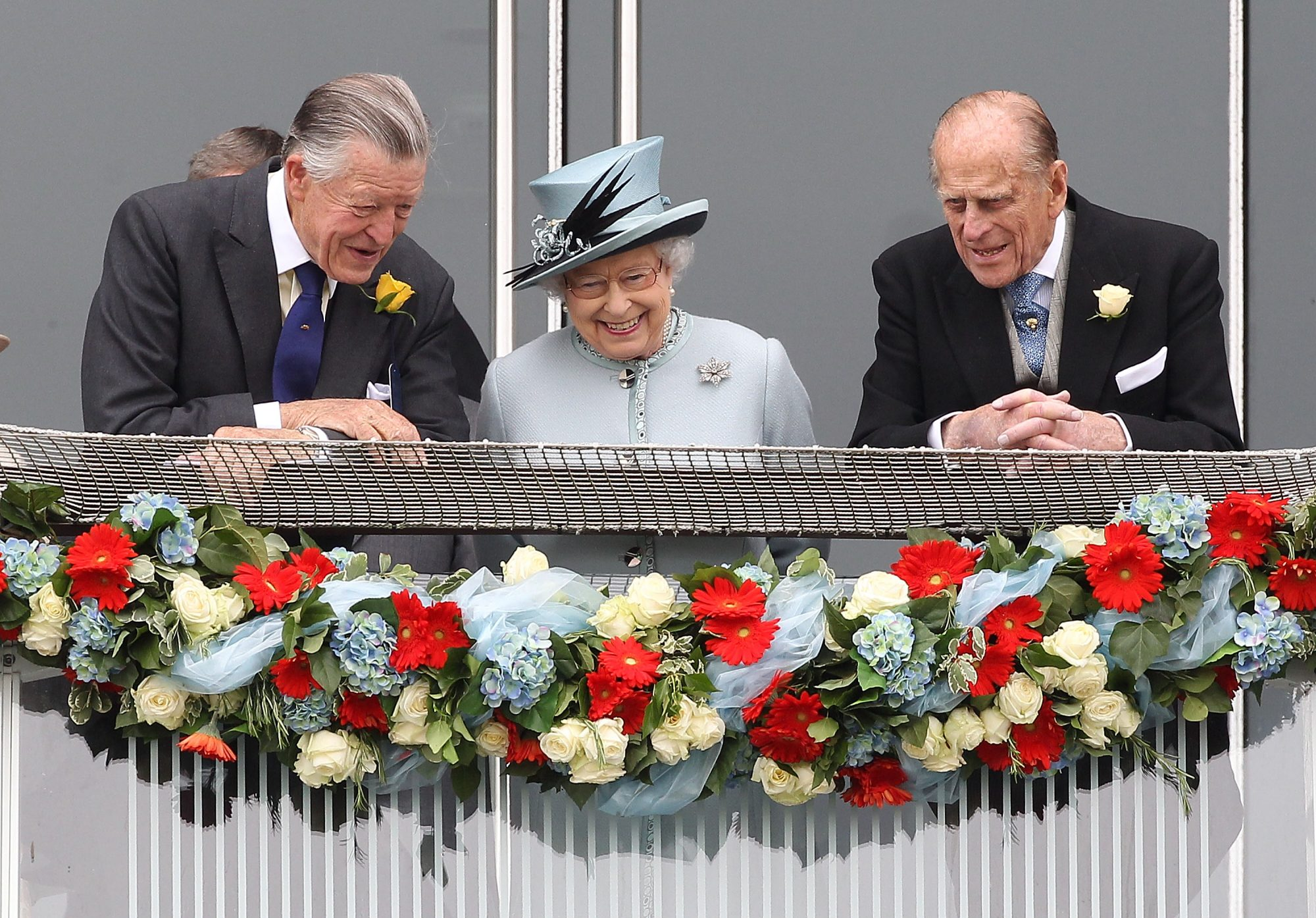 Michael Oswald, Queen Elizabeth ll y Prince Philip