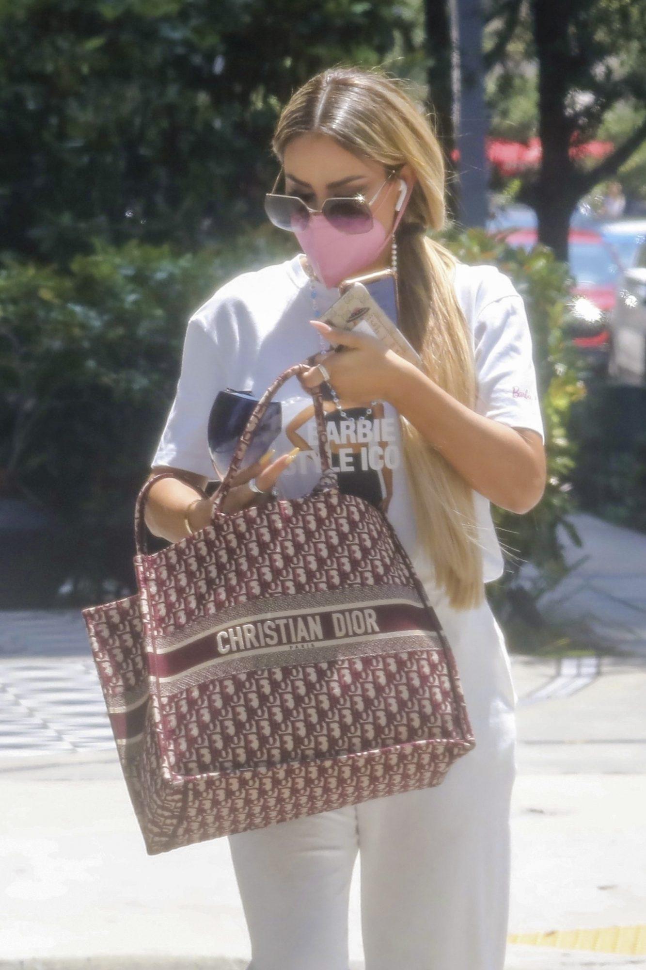 Ninel Conde presume su bolso Dior en Miami