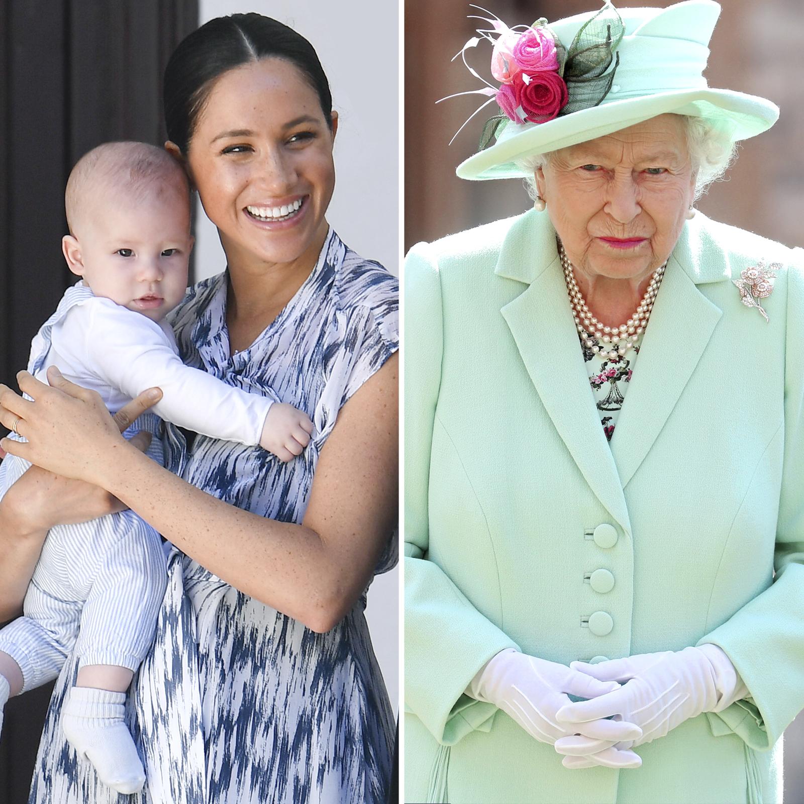 Meghan Markle, Archie y reina Isabel