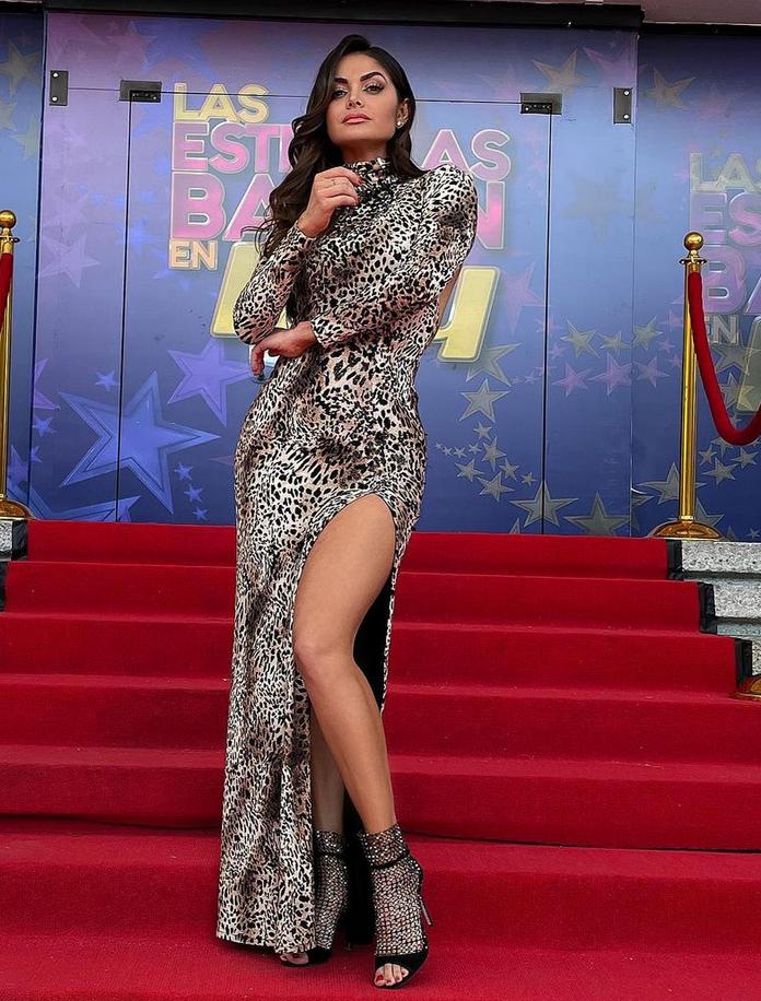 Marisol Gonzalez, vestido con estampado de leopardo, Programa Hoy