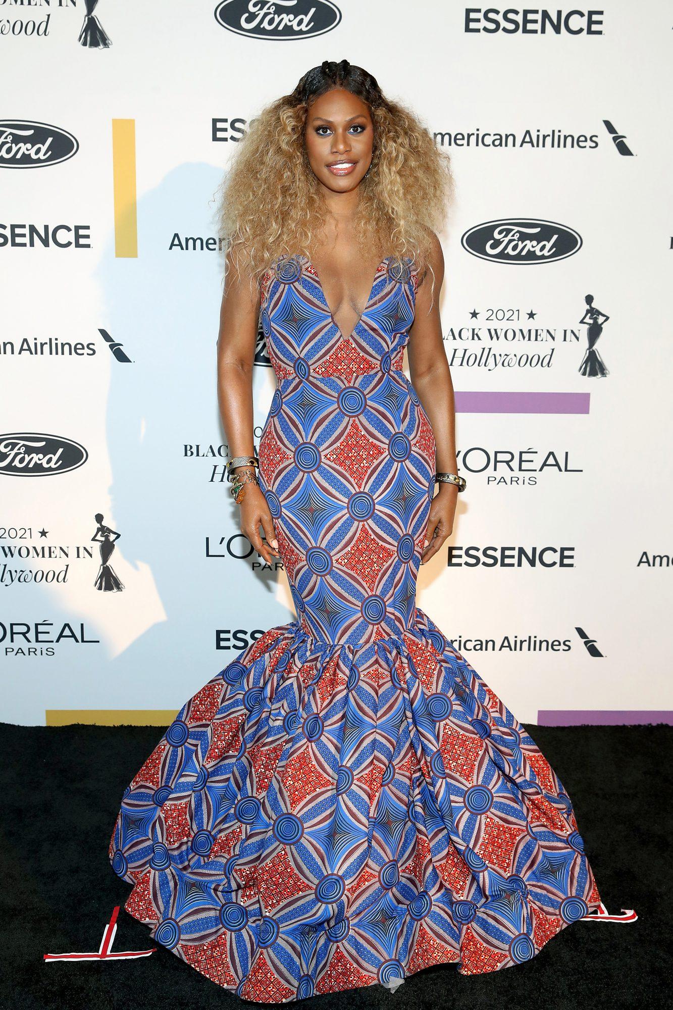 Laverne Cox, Essence Black Women Awards, vestido, alfombra