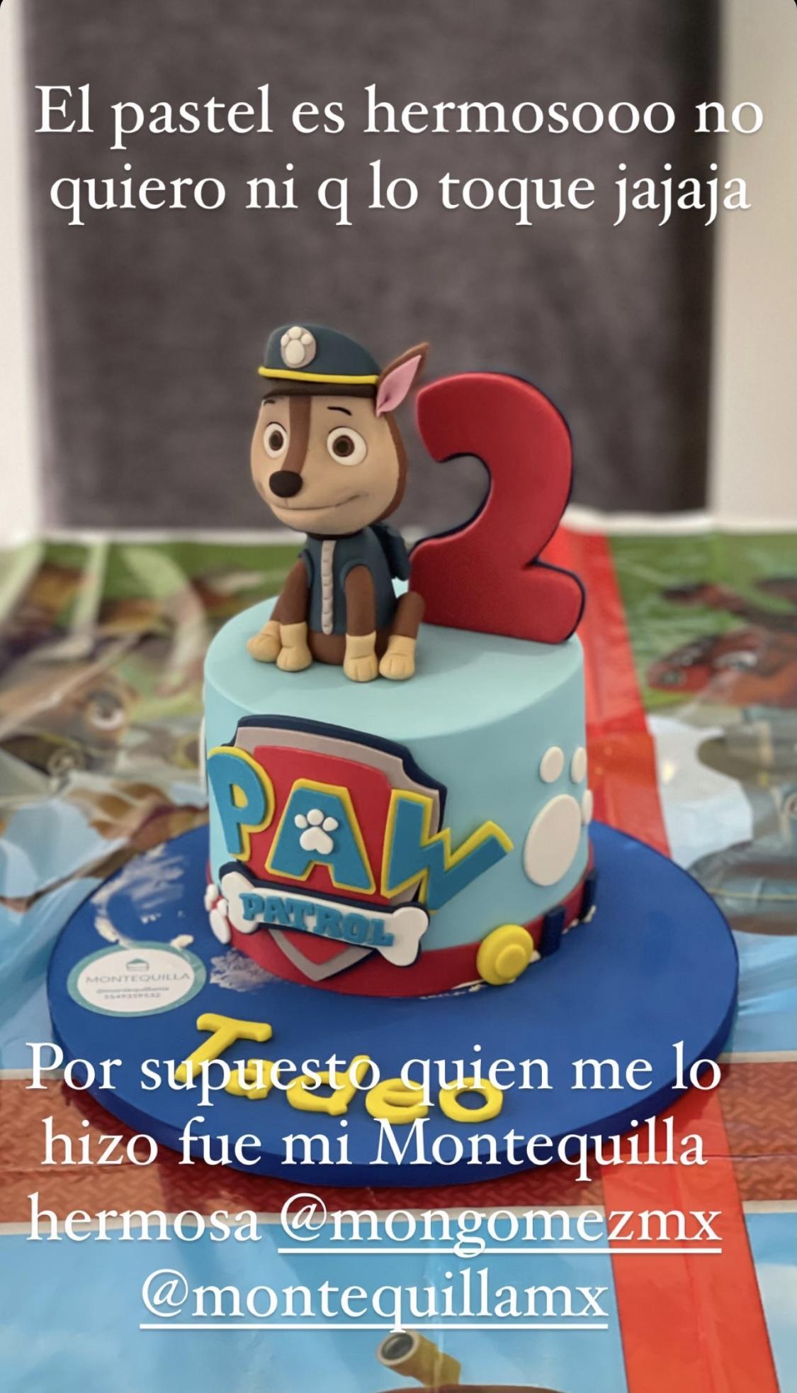 Pastel cumpleaños Ferdinando Valencia Brenda Keller Dante