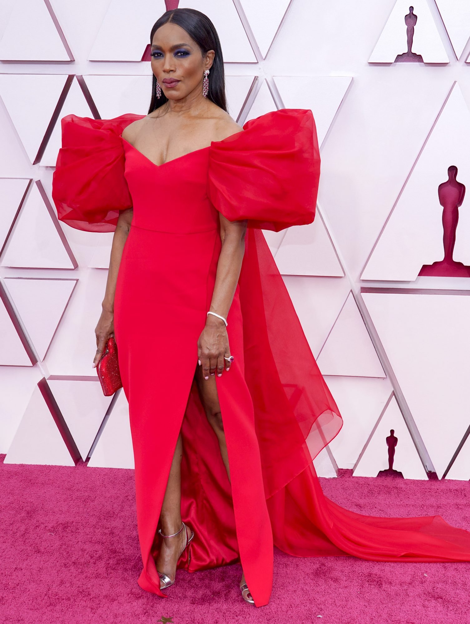 Oscars, alfombra roja, Angela Bassett