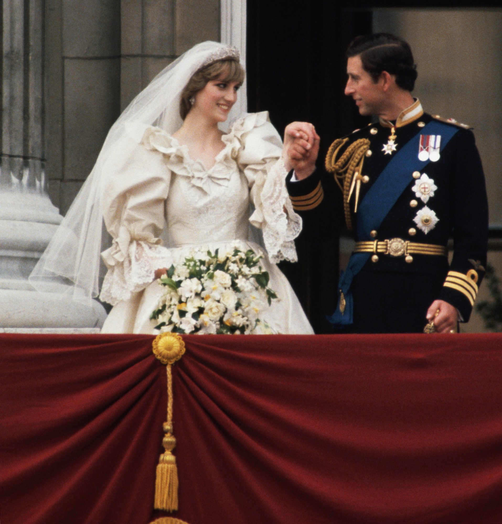 Charles and Diana After Their Wedding