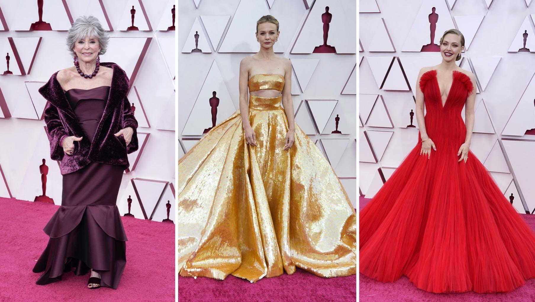 Oscars, alfombra roja, Rita Moreno,Carey Mulligan, Amanda Seyfried