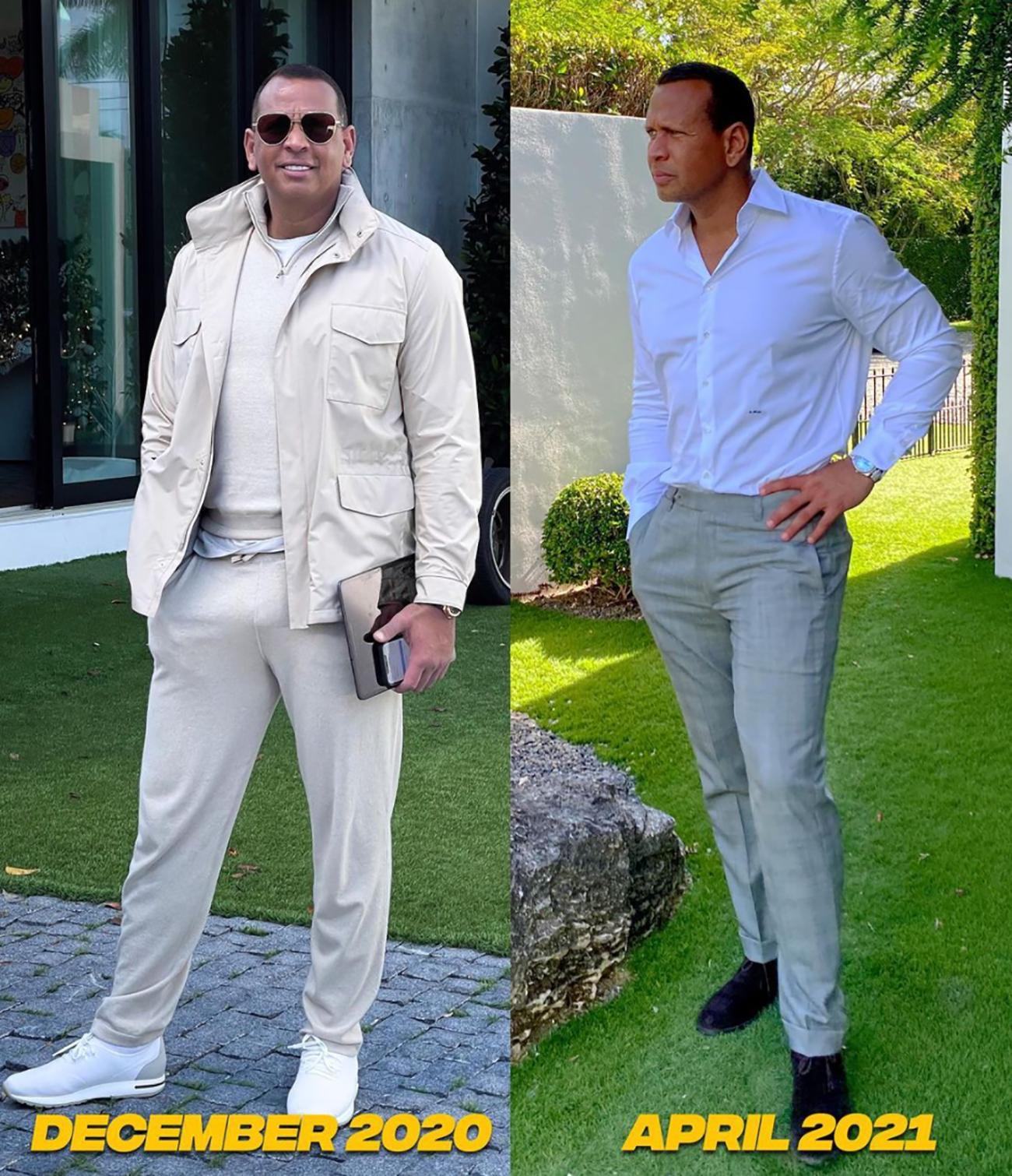 alex rodriguez muestra espectacular perdida de peso