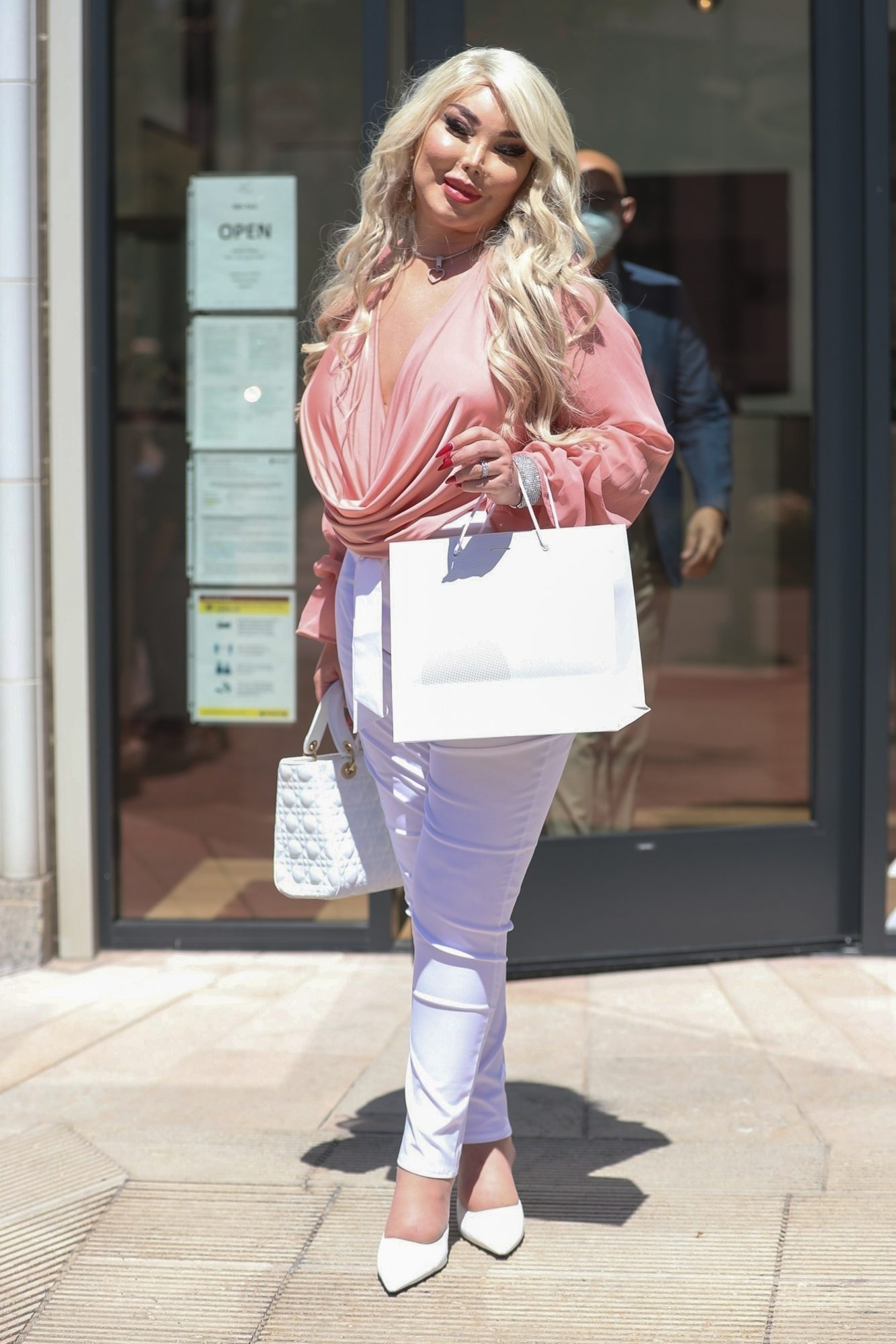 Jessica Alves causes Baby Ken Doll to Crash his Car while Shopping in Beverly Hills