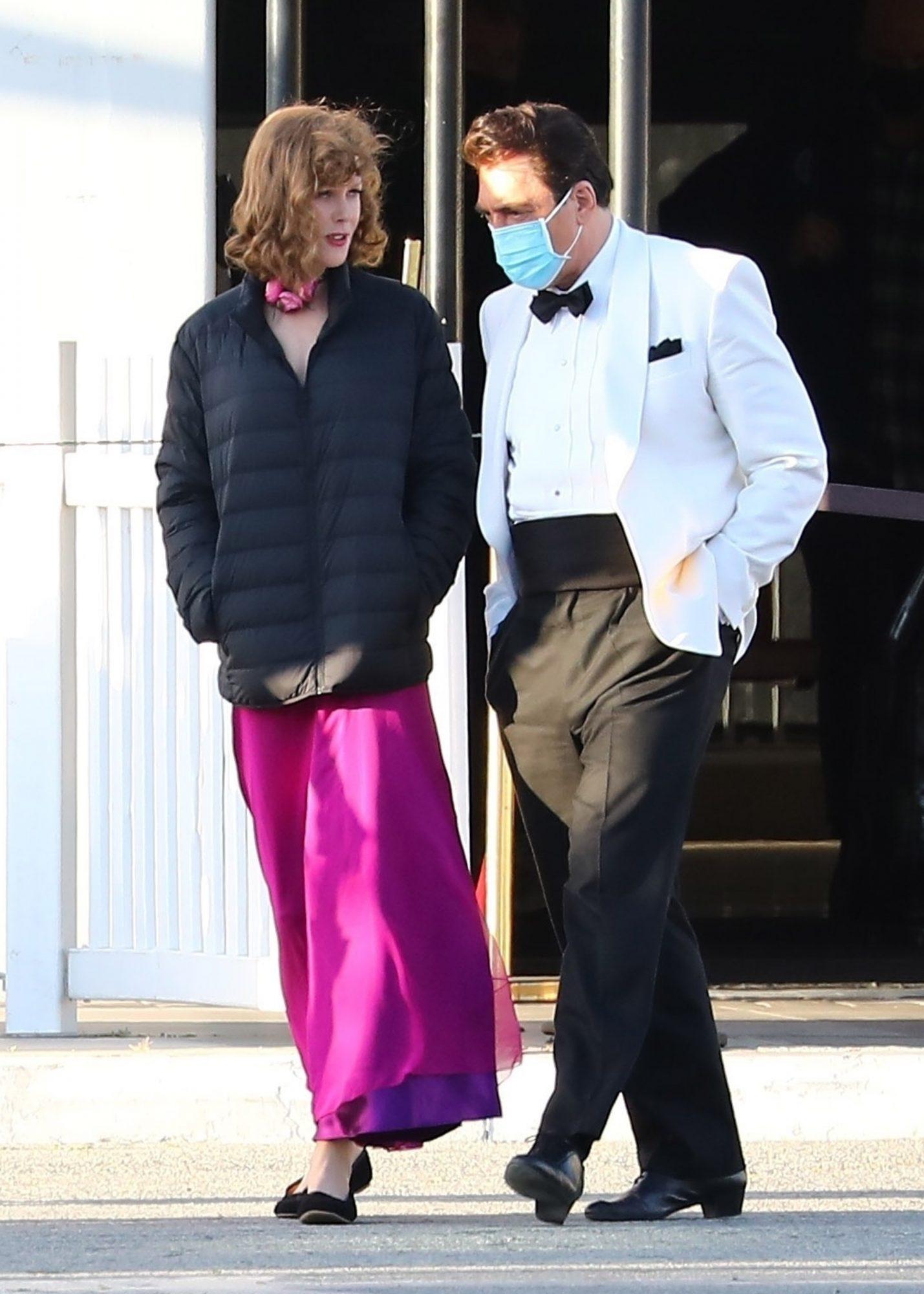 Nicole Kidman & Javier Bardem Take a Break from Filming 'Being the Ricardos