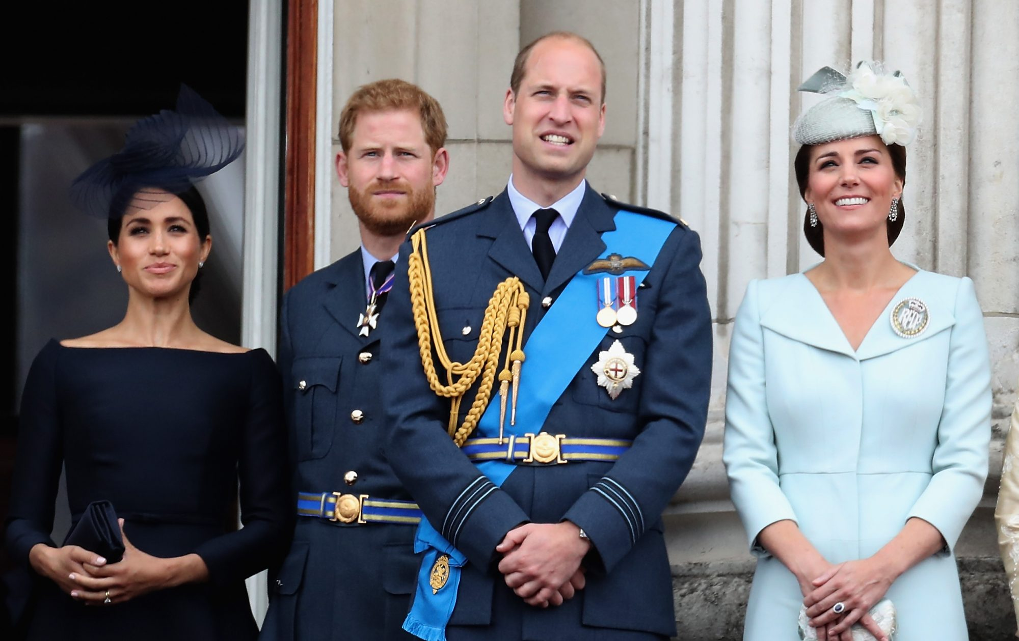Meghan Markle, Prince Harry, Prince William, y Kate Middleton