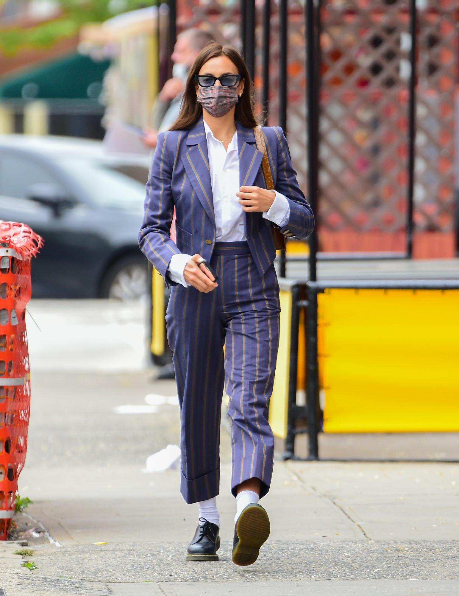 Irina Skayk, look del dia, suit traje