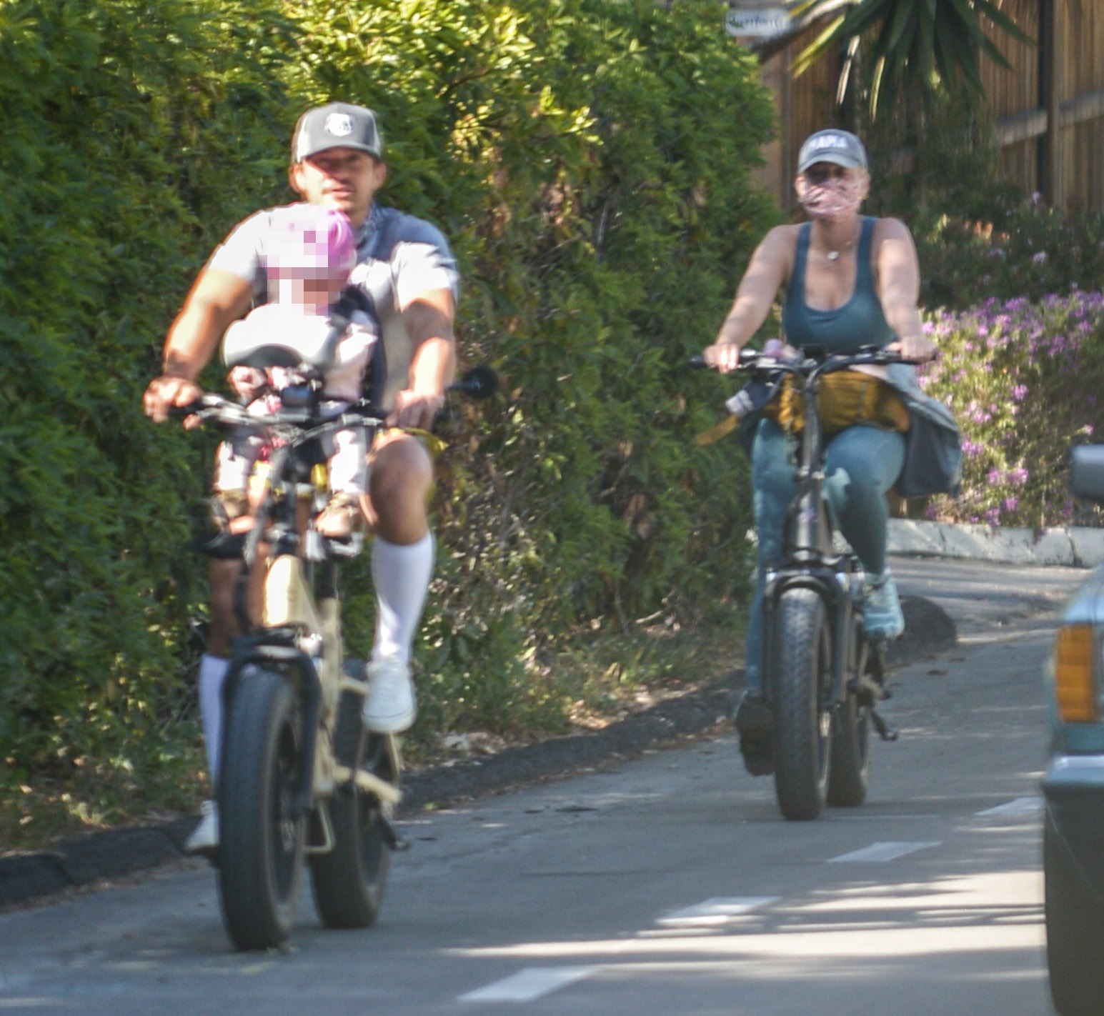 Katy Perry and Orlando Bloom Take Baby Daisy on a Fun Bike Ride in Montecito