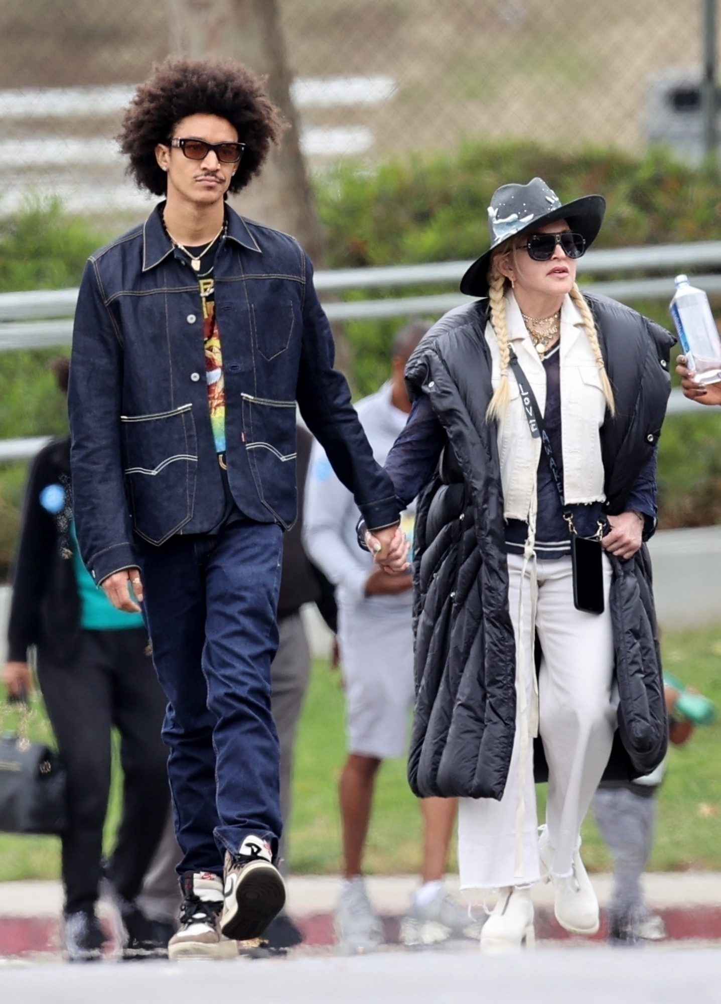 Madonna Walks Hand in Hand with 26-year-old Toyboy Ahlamalik Williams at Son's David Soccer Game