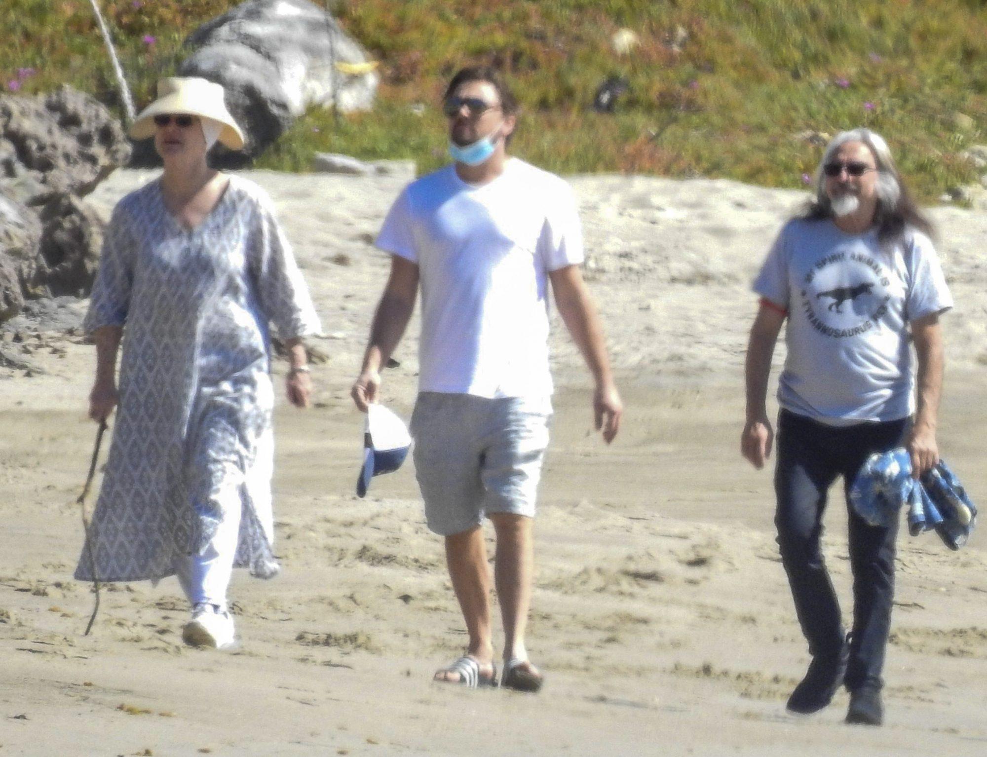 Leonardo DiCaprio Spends Quality Time with Dad & Stepmom