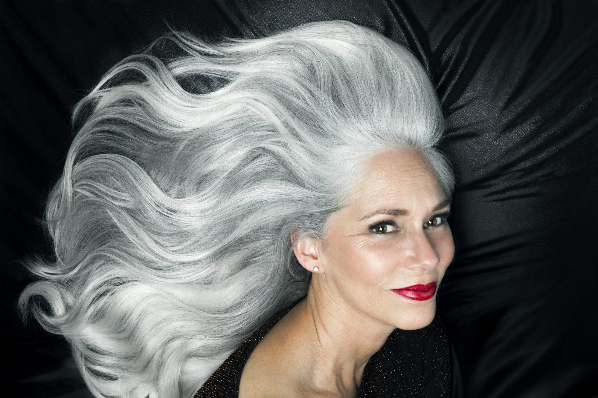 Cabello canas productos pelo blanco y gris