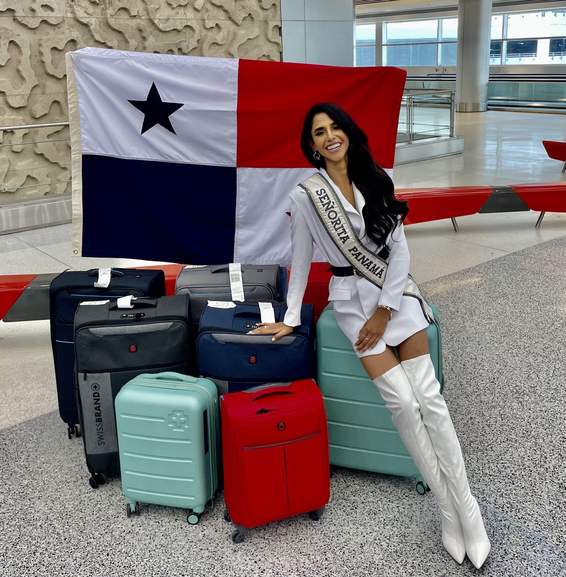 llegada a miami de Carmen Jaramillo miss Panamá