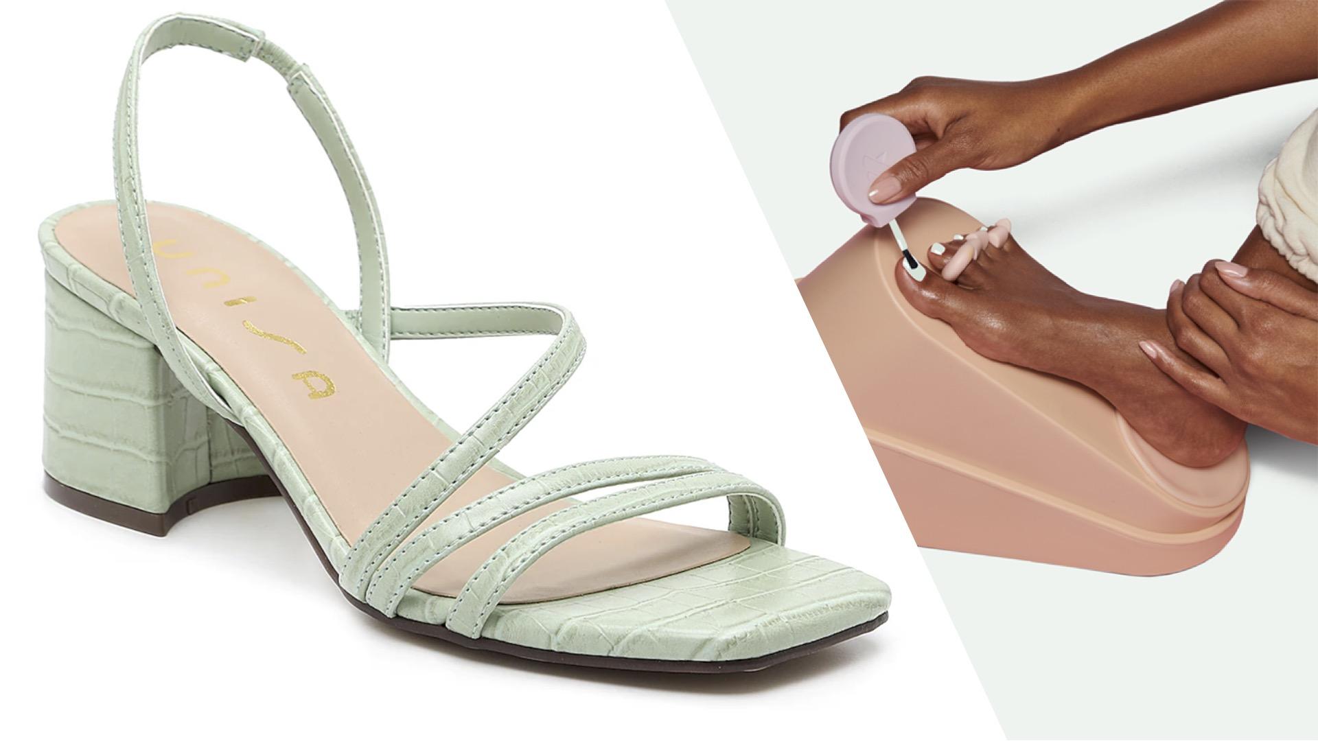 zapatos de primavera, sandalias, uñas, pedicura, Unisa, Olive & June