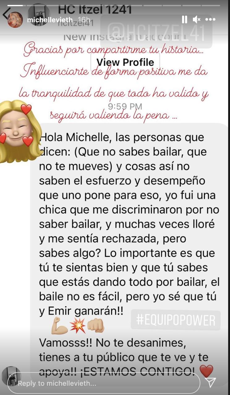 Mensaje de Michelle Vieth