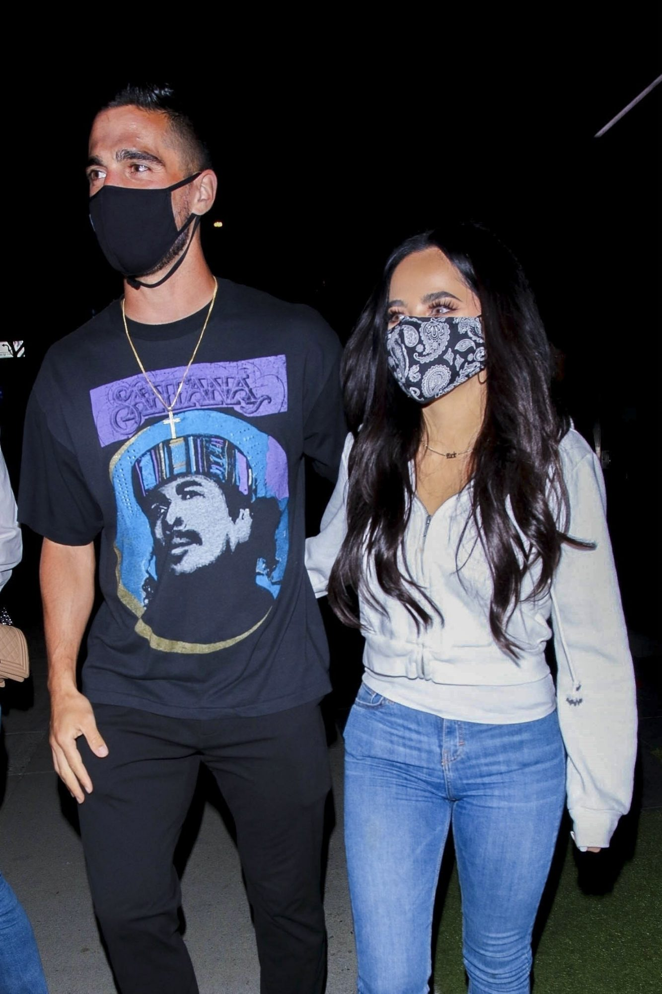 Becky G is in Good Spirits as she Steps Out with Sebastian Lletget for a Late Bite