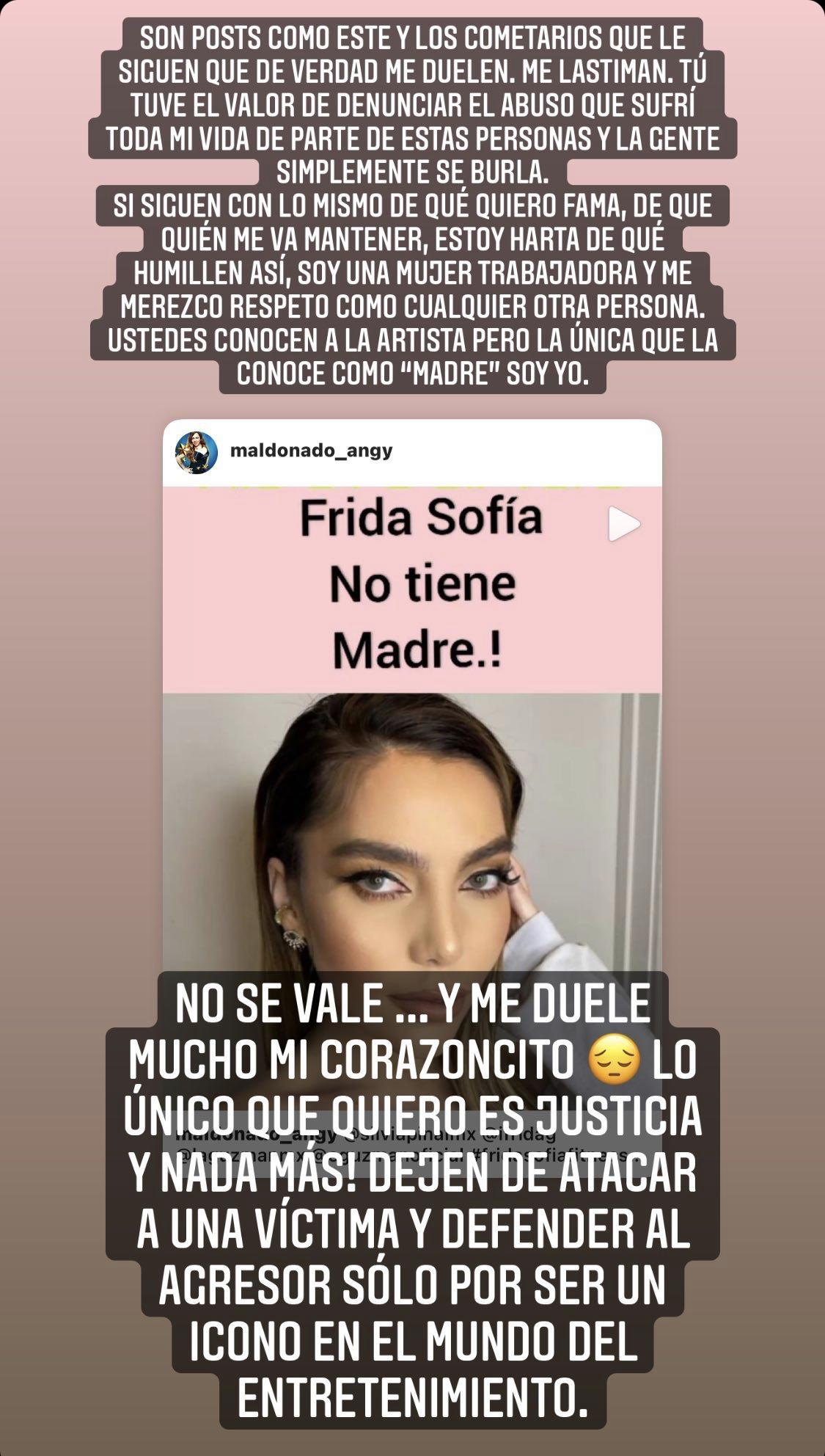 Frida Sofía acoso