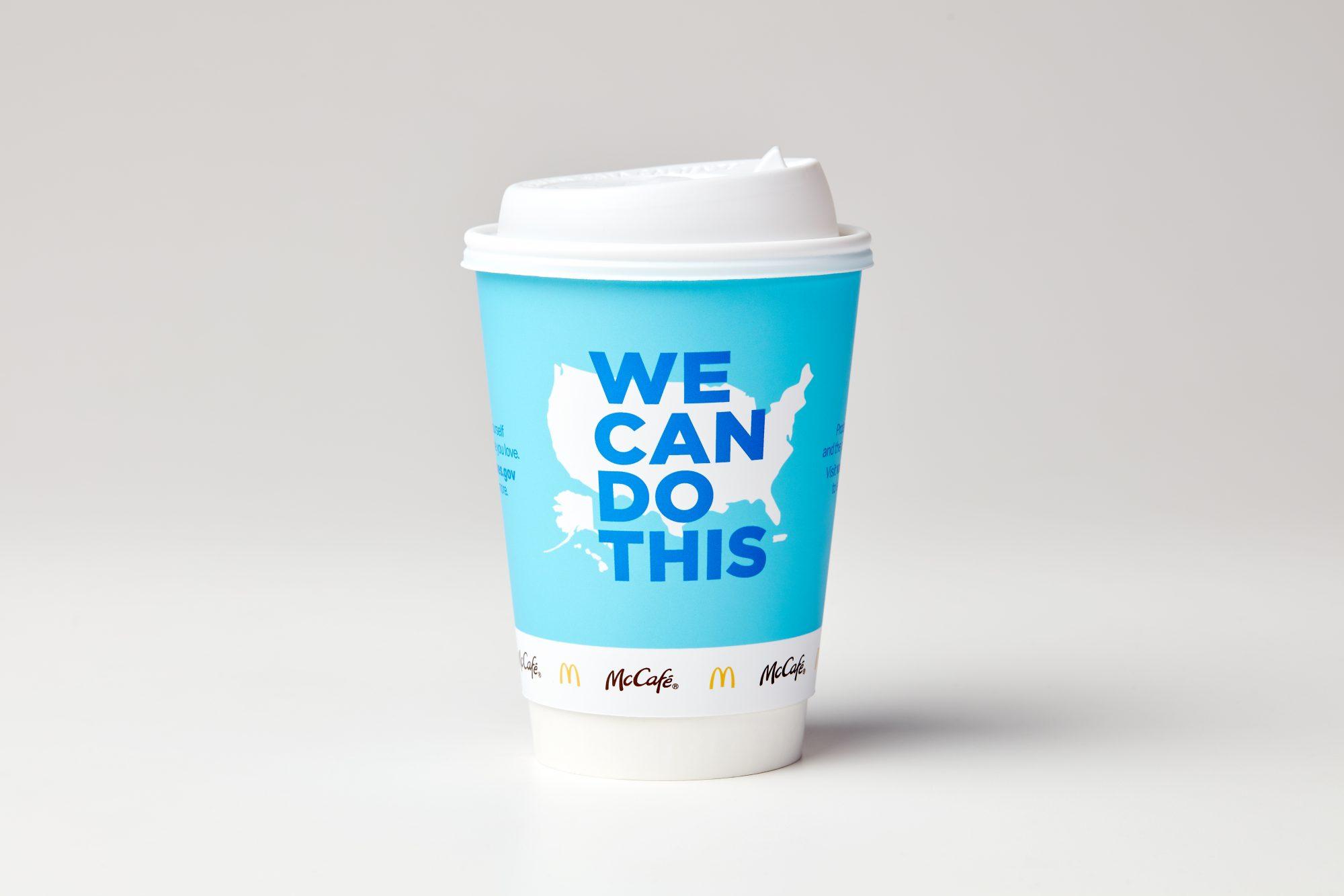 McDonald's taza de Cafe vacunas covid-19