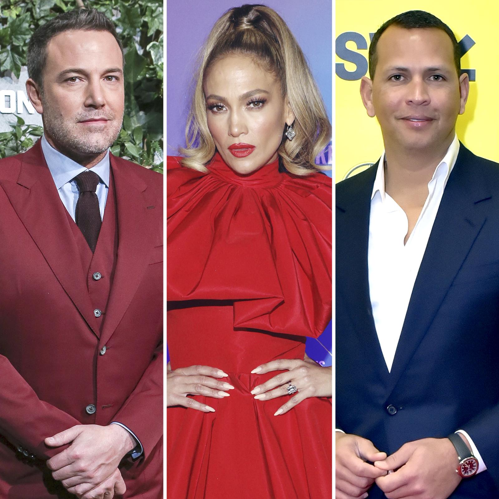 Ben Affleck, Jennifer Lopez y Alex Rodriguez