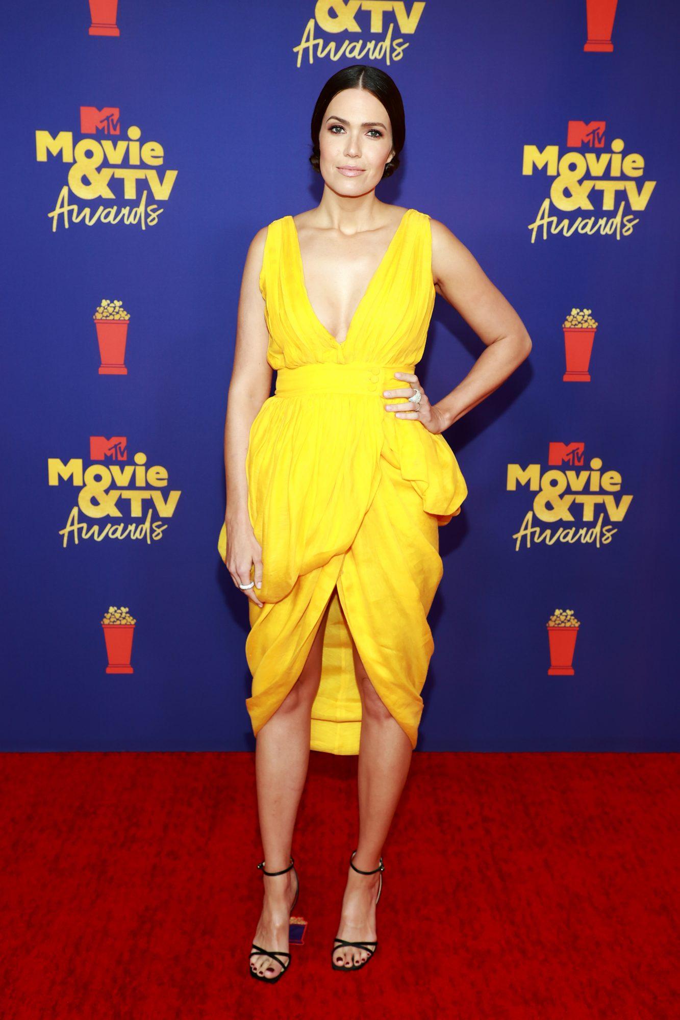 Mandy Moore, MTV music Awards, vestido amarillo