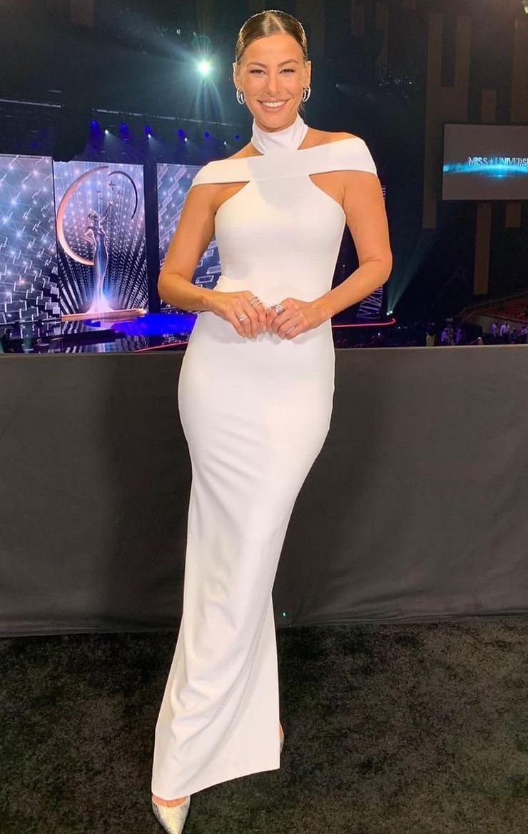 Nastassja Bolivar, vestido blanco, miss universo