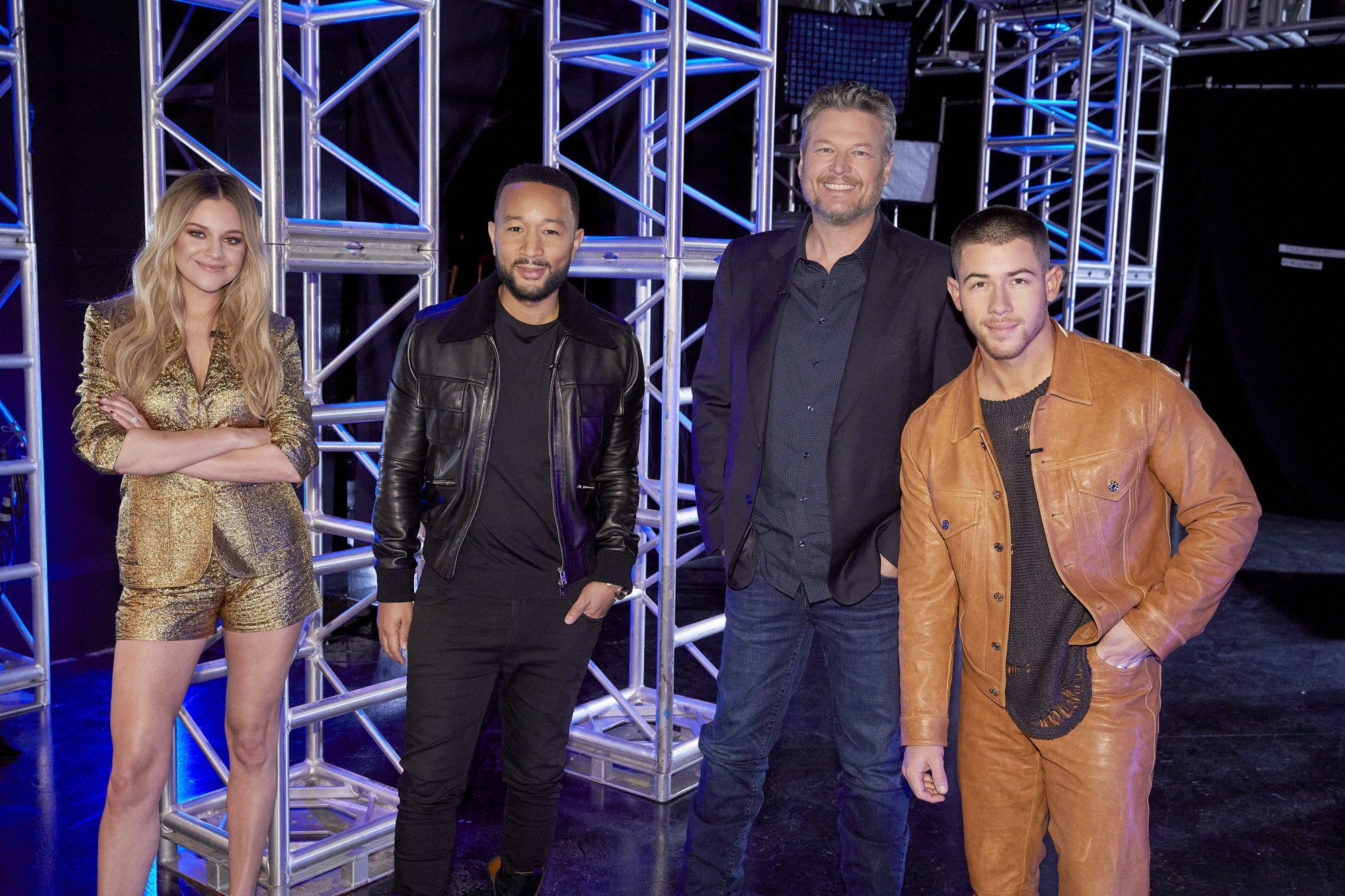Kelsea Ballerini, John Legend, Blake Shelton y Nick Jonas