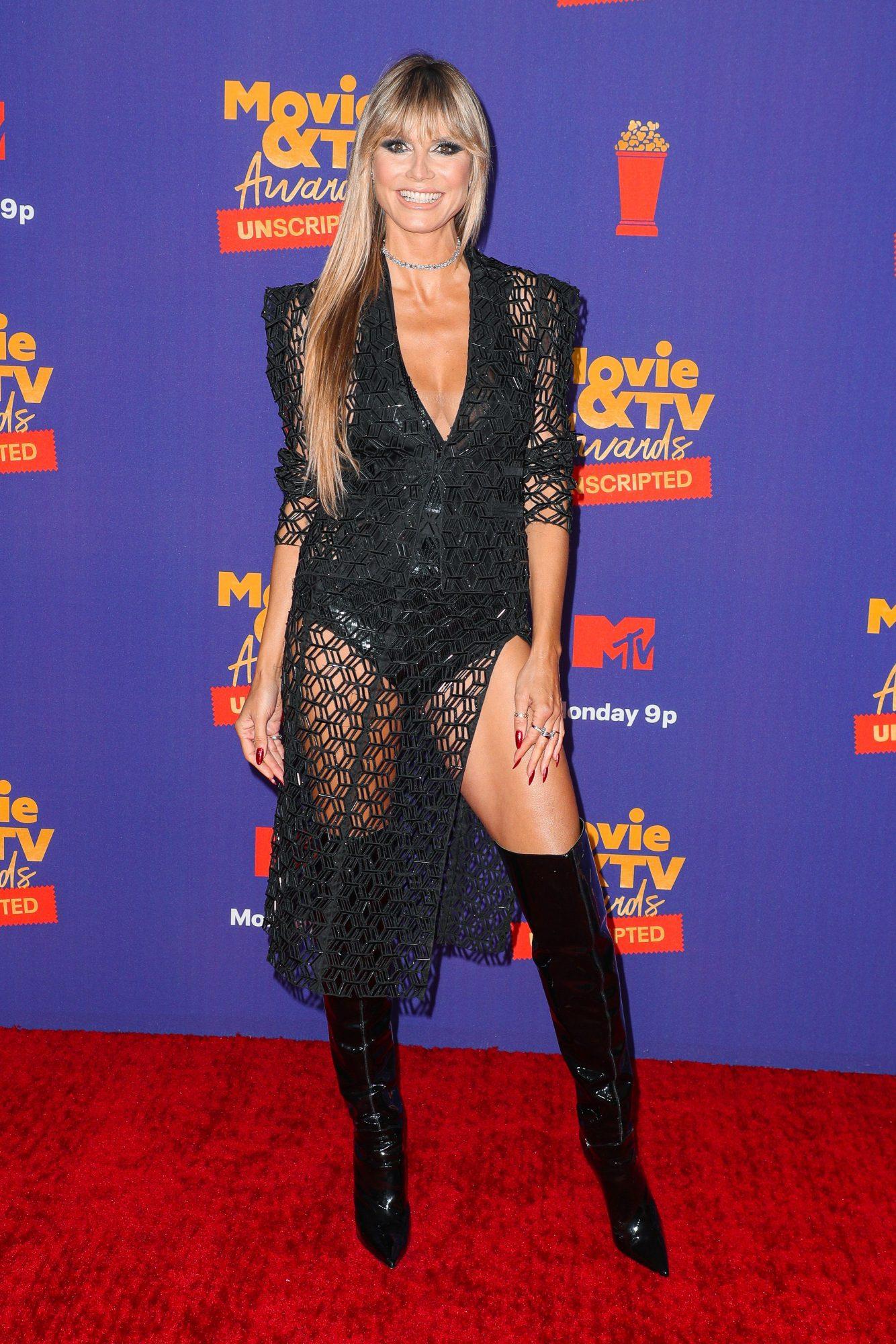 Heidi Klum, MTV Movie and TV Awards, sexy vestido negro