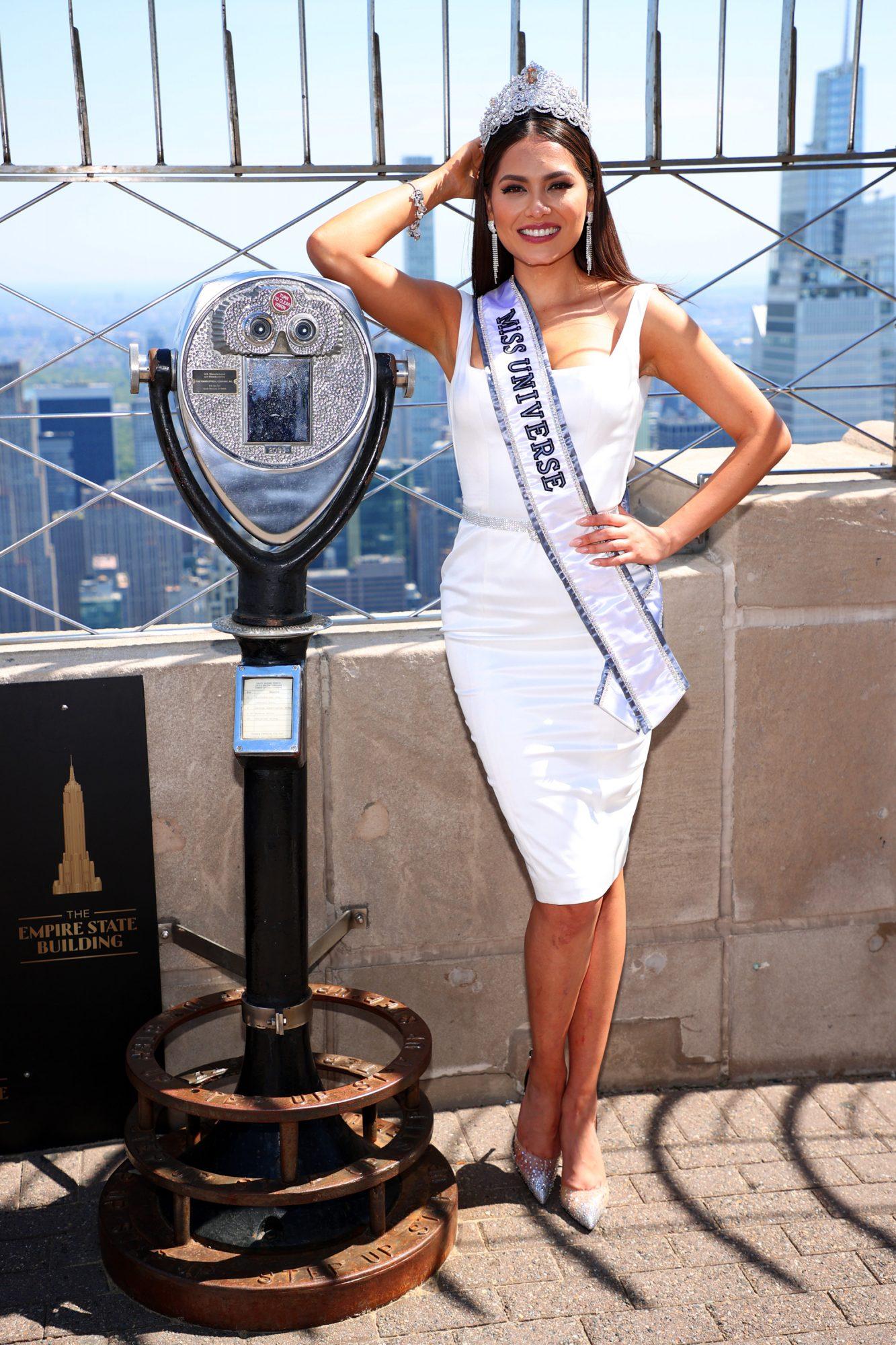 Miss Universo, Andrea Mesa, Miss Mexico, tendencias vestido blanco
