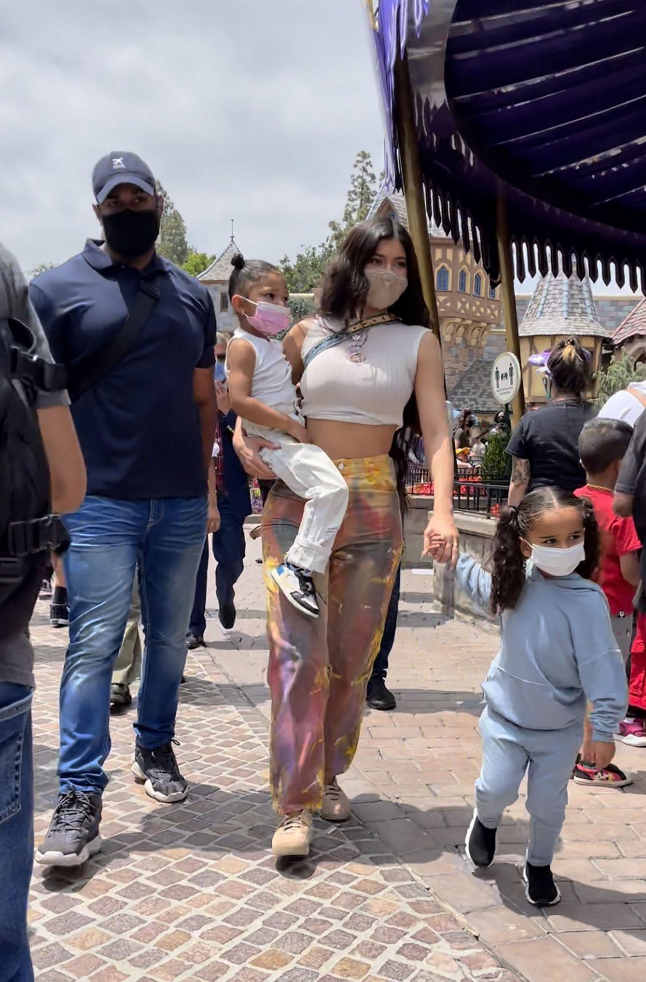 Kylie Jenner and Travis Scott Hit Disneyland with Stormi