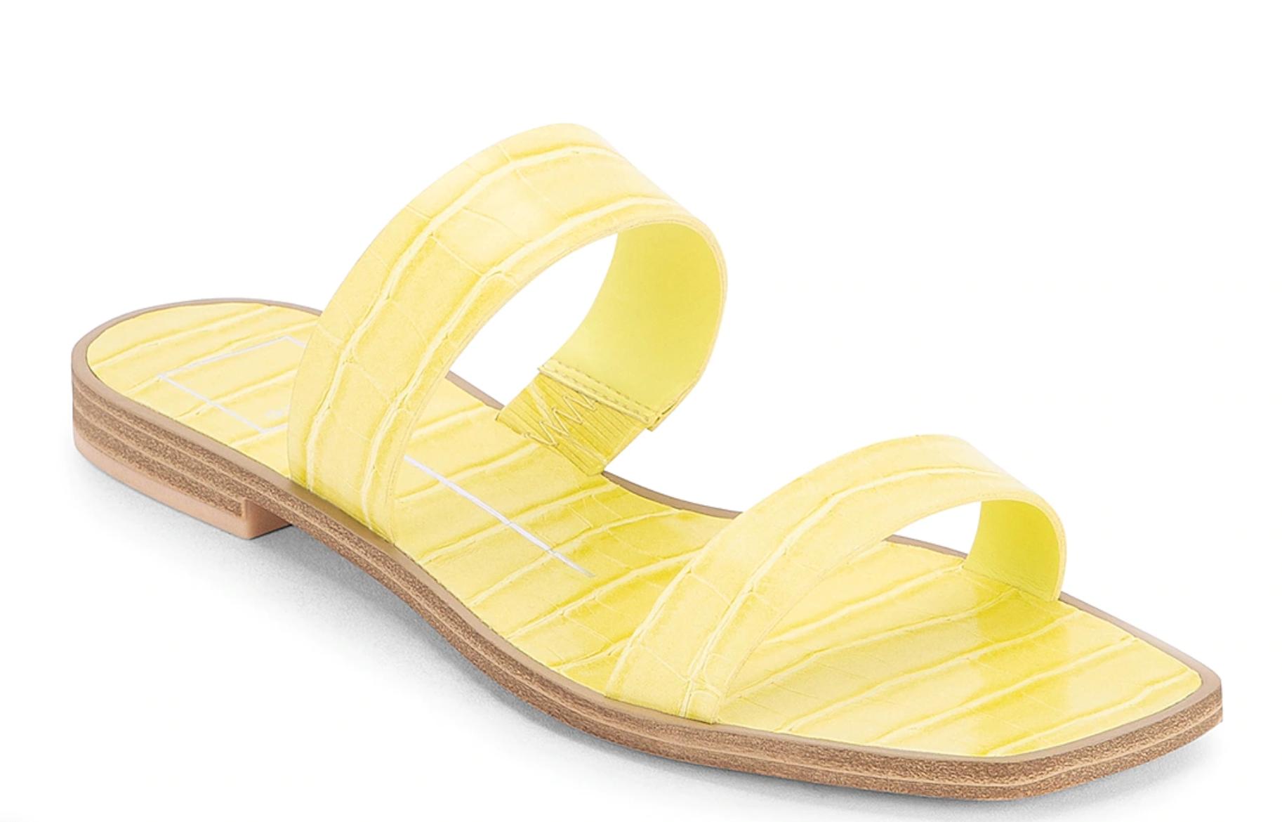 zapatos amarillos dolce vita