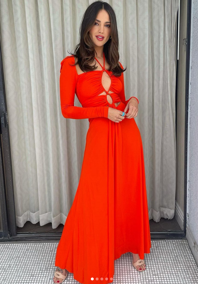 Eiza Gonzalez, vestido rojo, look del dia